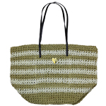 Large White Stripe Bag
