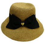 Double Bow Straw Hat