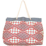 Batik Stripe Large Canvas Tote