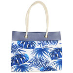 Blue Girl Rope Handle Tote Bag