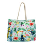 Tropical Bird Rope Handle Tote Bag