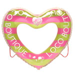 LB Stripe Large Heart Shape Swim Ring