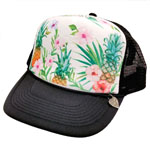 Pine and Flower Mesh Cap