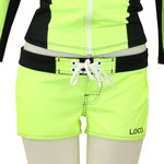 Neon Black Piping Boardshorts