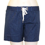 Linen Mid-Thigh Length Boardshort