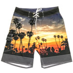Sunset Palm Tree Men's Boardshort