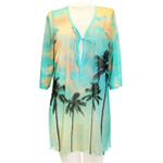 Palm Photo Tunic Cover Up
