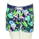 Water Color Mid-Thigh Length Boardshort