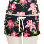 Tropical Orchid Fitted Shorts