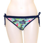 Blue Flower Reversible Banded Waist