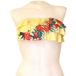 Retro Hawaii 3-Tier Flounce Bandeau Top