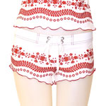 Loco Broidery Fitted Shorts