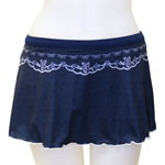 Embroidery 1-inch Banded Waist Skort