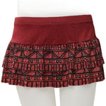 Hawaiian Geo Double Layer Flared Skort