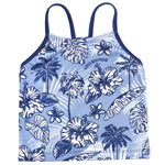 Hibis and Palm Kid's Racer Back Tankini