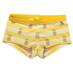 Gold Pineapple Kid's 1-inch Banded Boyshorts