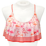 Flamingo Flounce Crop Top