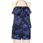 Lagoon Flounce Front Romper