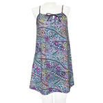 Hawaiian Tat String Gathered Short Dress