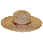 Tweed Straw Wide Brim Hat