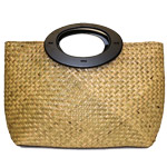 Seagrass Wood Handles Bag