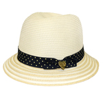 Child's Nautical Straw Bucket Hat