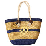 Ship Wheel Straw Bag