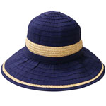 Raffia and Ribbon Hat