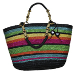 Rainbow Straw Bag