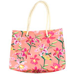 Tropical Orchid Rope Handle Tote