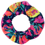 Tropical Flower Hair Tie - Thick