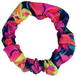 Tropical Flower Hair Tie - Thin