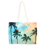 Palm Photo Rope Handle Tote Bag
