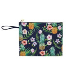 Pine and Flower Clutch Pouch