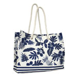 Thicket Linen Stripe Rope Handle Tote Bag