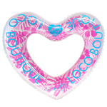 Tropical Heart Shape Swim Ring