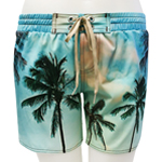 Palm Photo Mid-Thigh Length Boardshort