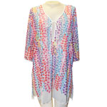 Rainbow Shower Tree Tunic Cover Up