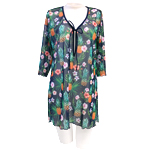 Pine and Flower Tunic Cover Up
