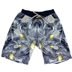Pineapple Leaf Elastic Gathered Waist Men's Boardshort