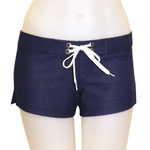 Loco Denim Fitted Shorts