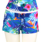 Paradise Garden Fitted Shorts