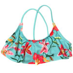 Tropical Orchid Kid's Flounce Crop Top