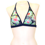 Blue Flower Reversible Banded Chest