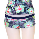 Blue Flower Reversible Boyshorts