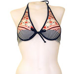Batik Stripe Tie Back Underwire