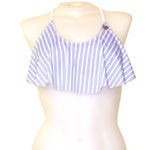 Quadruple Stripe Flounce Crop Top