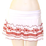 Loco Broidery Folded Ruffled Skirt