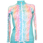 Sea Life Zipper Front Rashguard