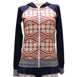 Batik Stripe Hooded Rashguard